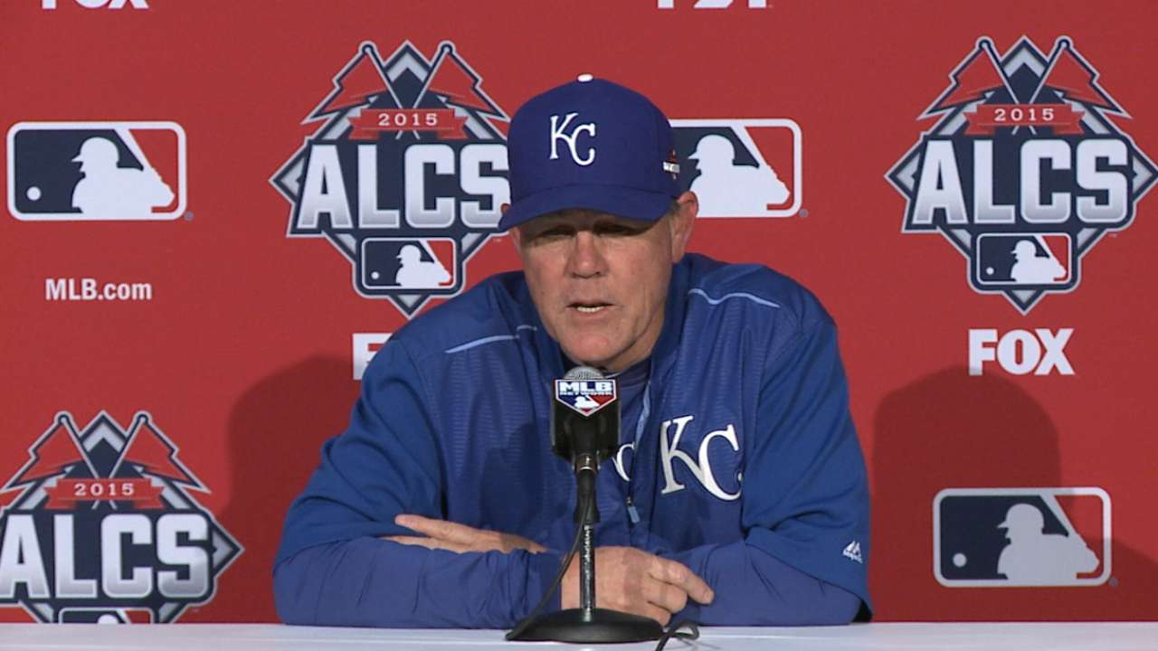 Oct. 18 Ned Yost workout day interview