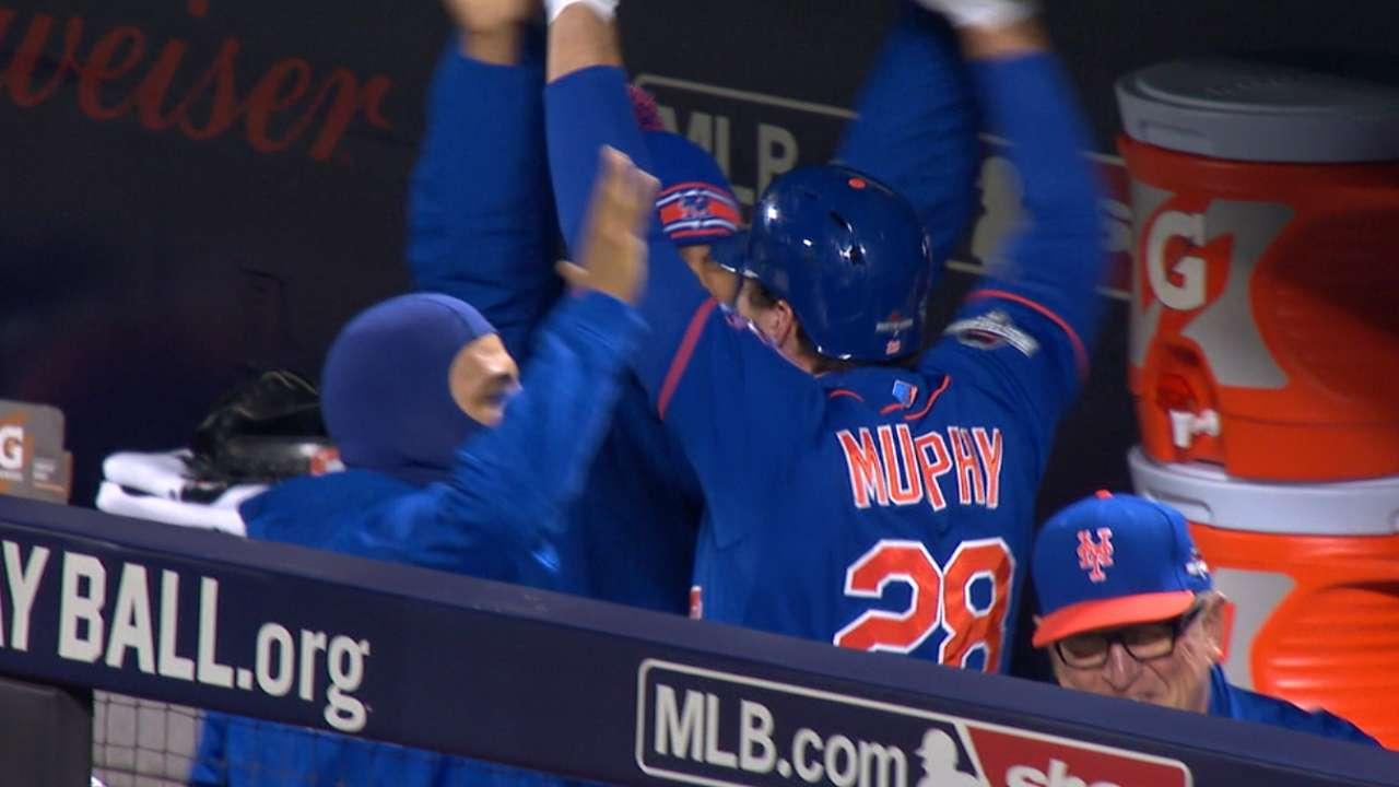 Murphy y Mets hundieron a los Cubs para ponerse 2-0 en la SCLN