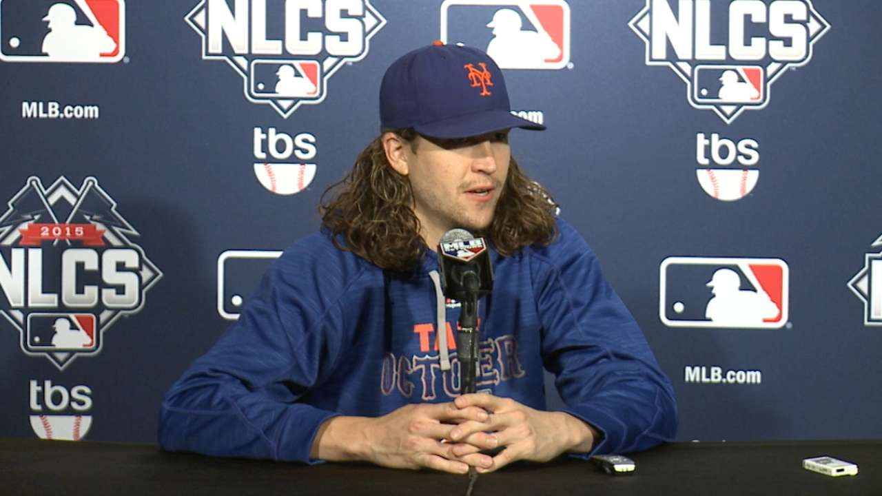 Oct. 19 Jacob deGrom workout day interview