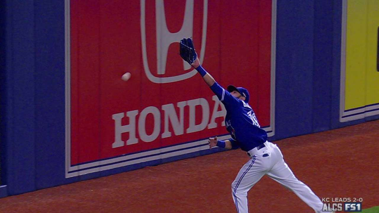 Zobrist's double over Bautista