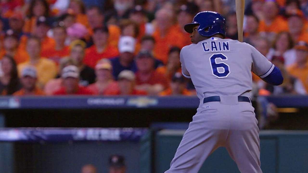 Cain sets Royals' postseason record