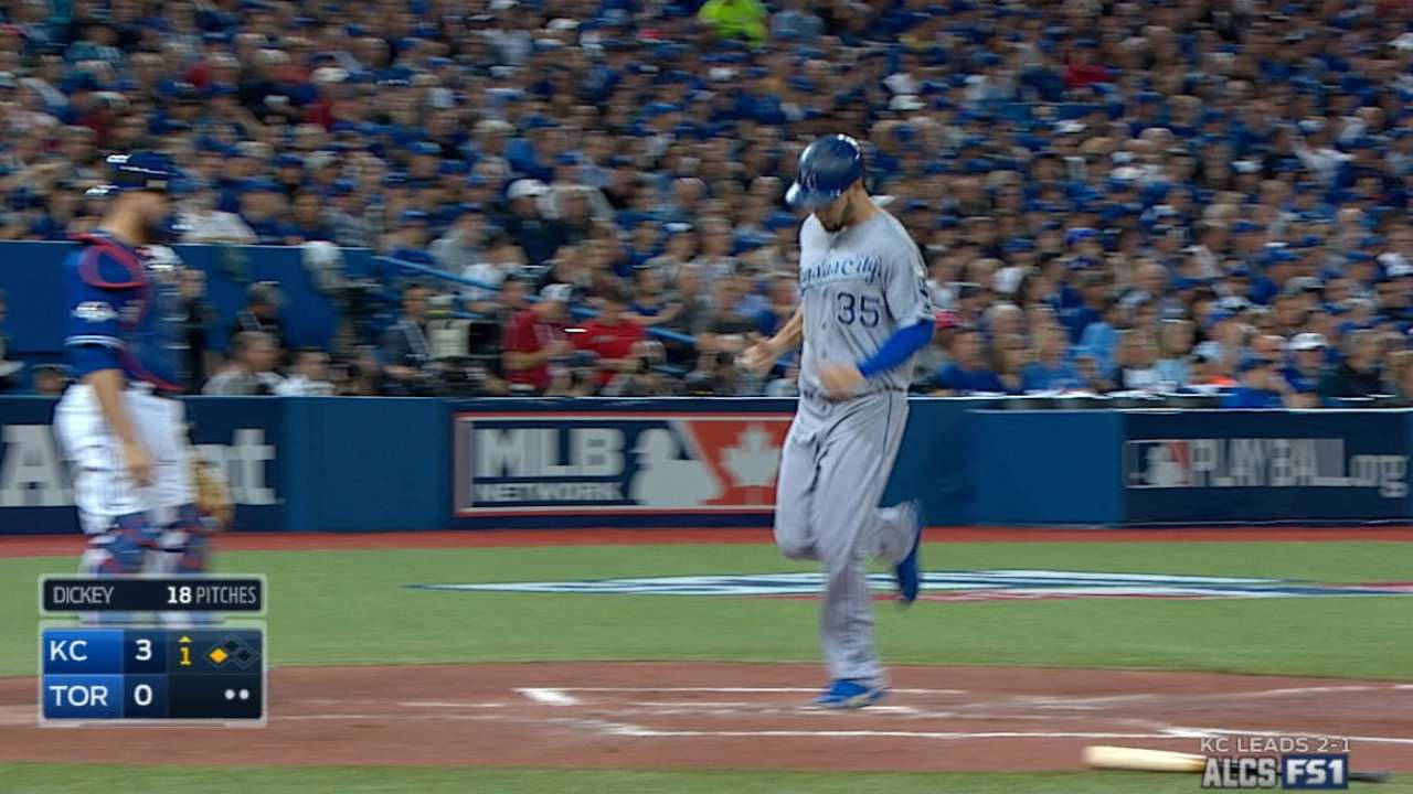 Royals score four in 1st
