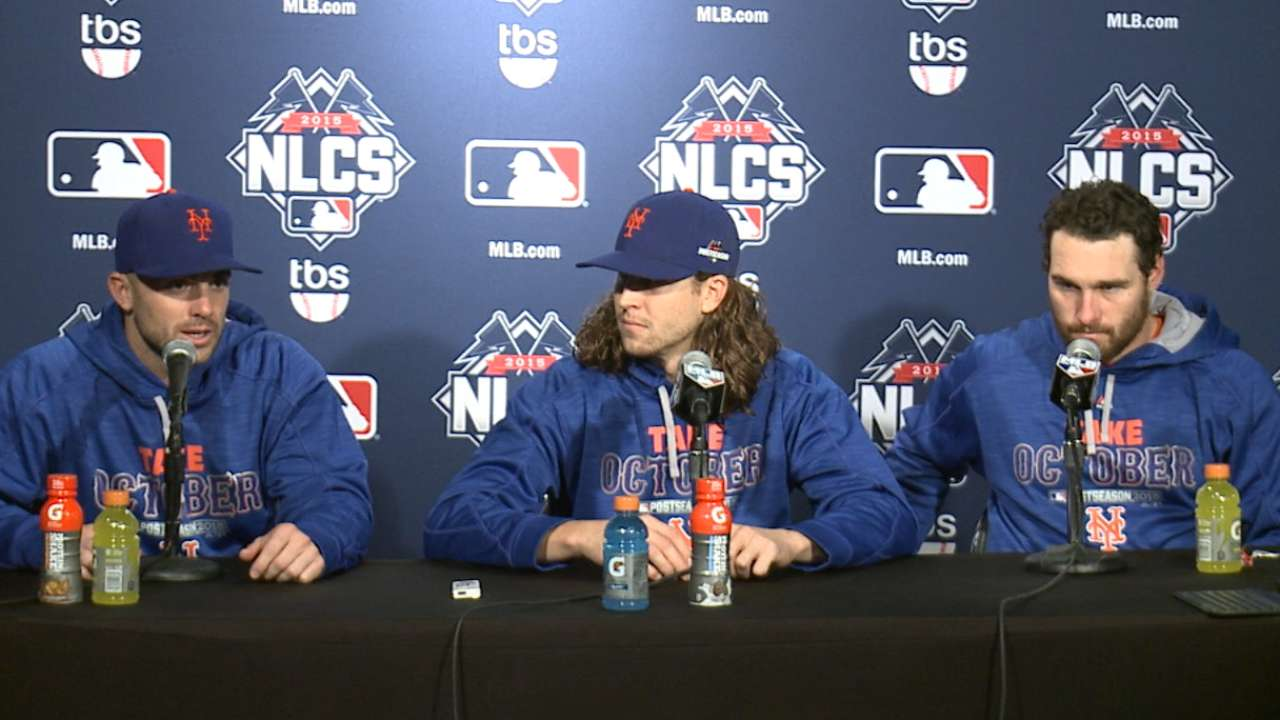 Oct. 20 David Wright, Jacob deGrom, Daniel Murphy postgame interview