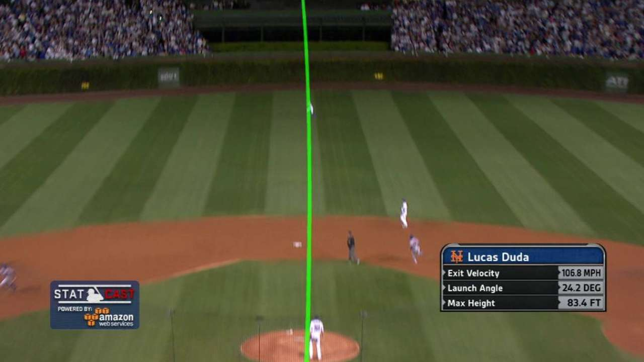 Statcast: Duda's three-run homer