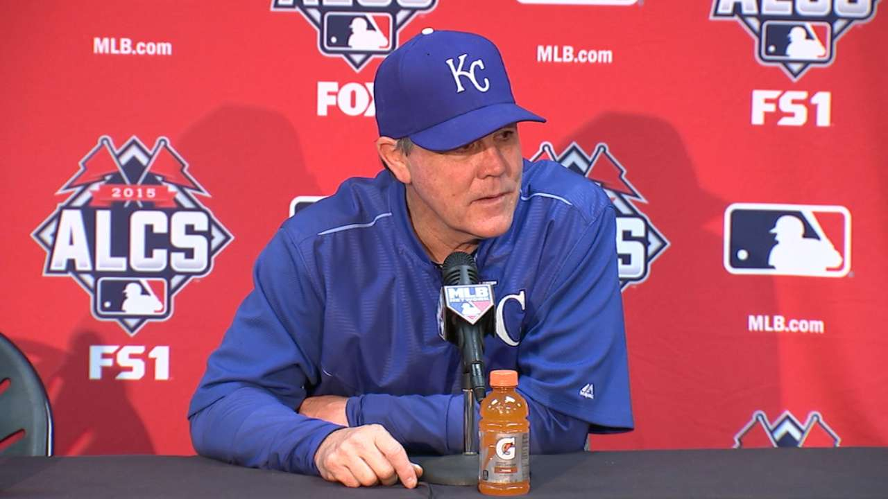 Oct. 22 Ned Yost workout day interview