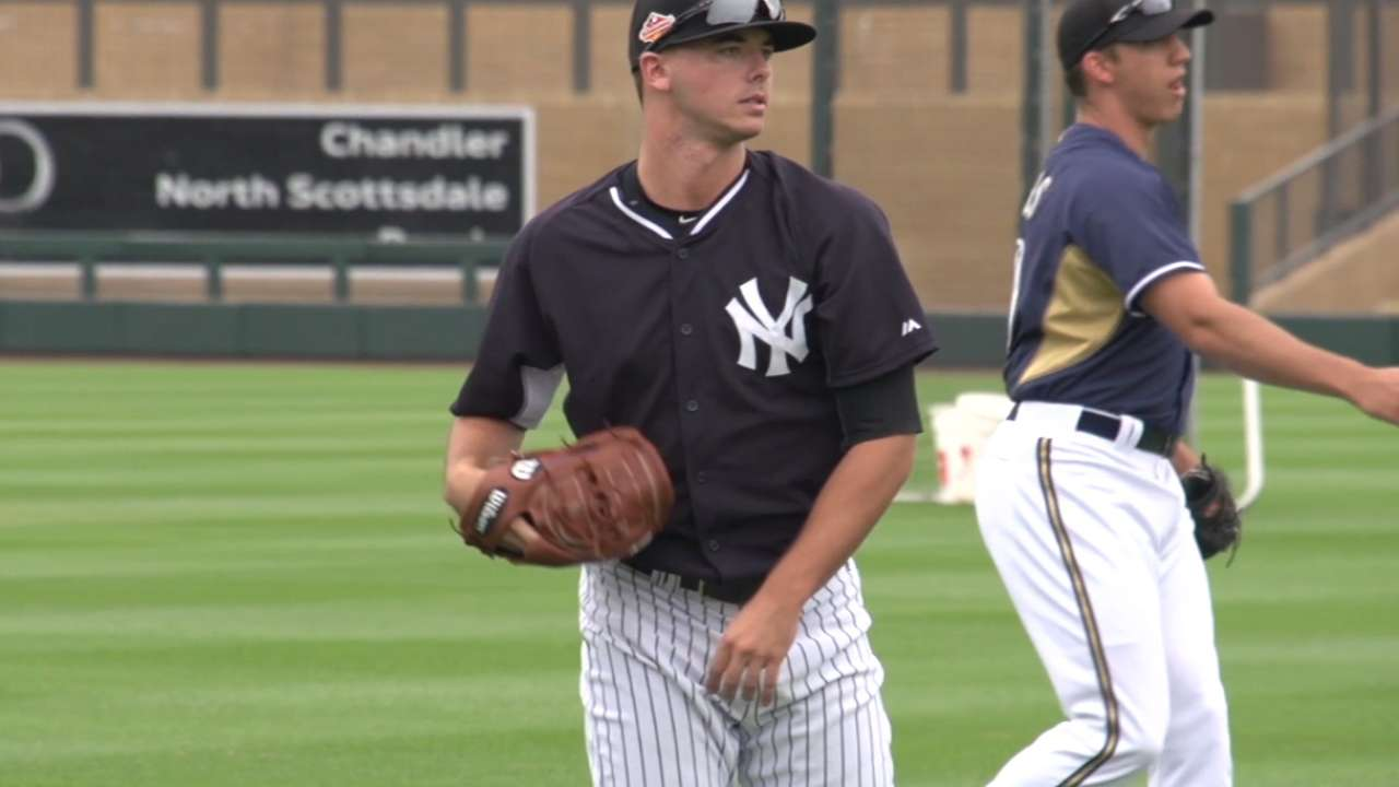 Yankees in AFL: Clarkin makes up for lost time