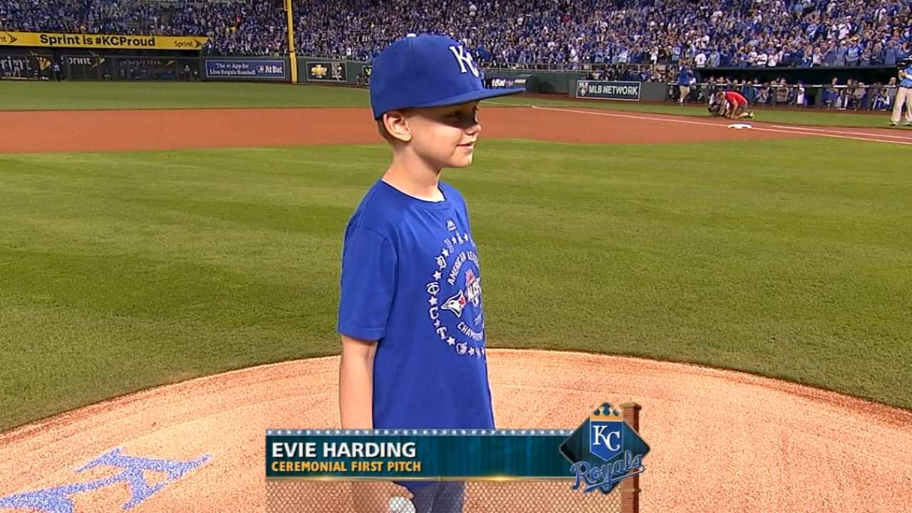 'Cool' assignment for young girl to throw first pitch