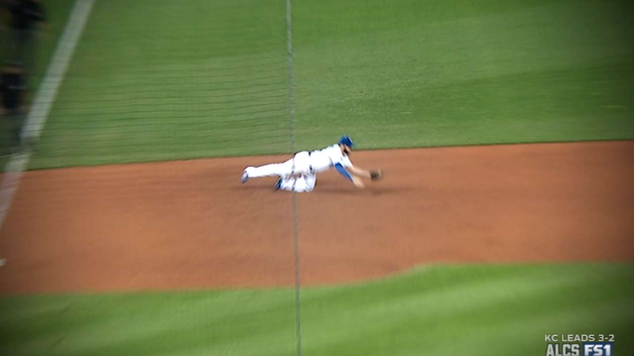 Moustakas snags hard-hit liner
