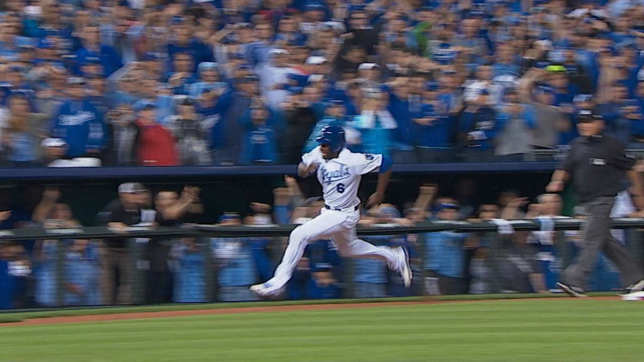 Statcast: Cain's sprint the difference for KC