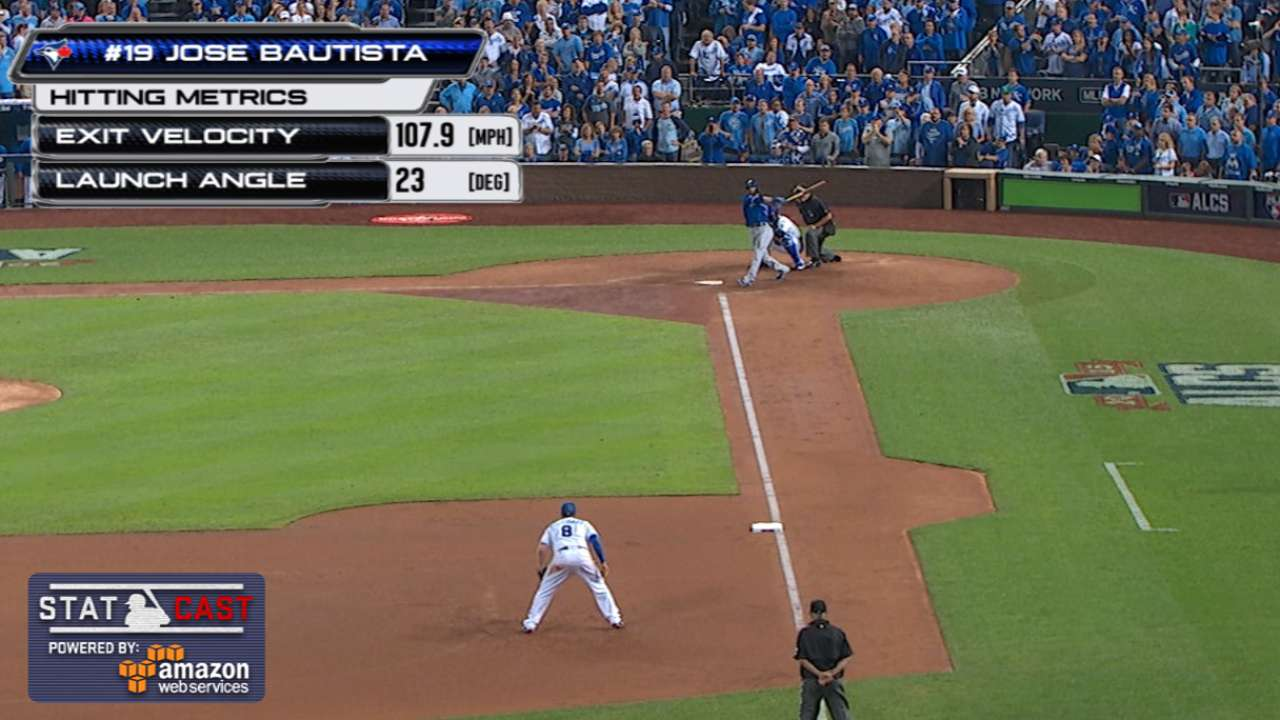 Statcast: Bautista's two homers