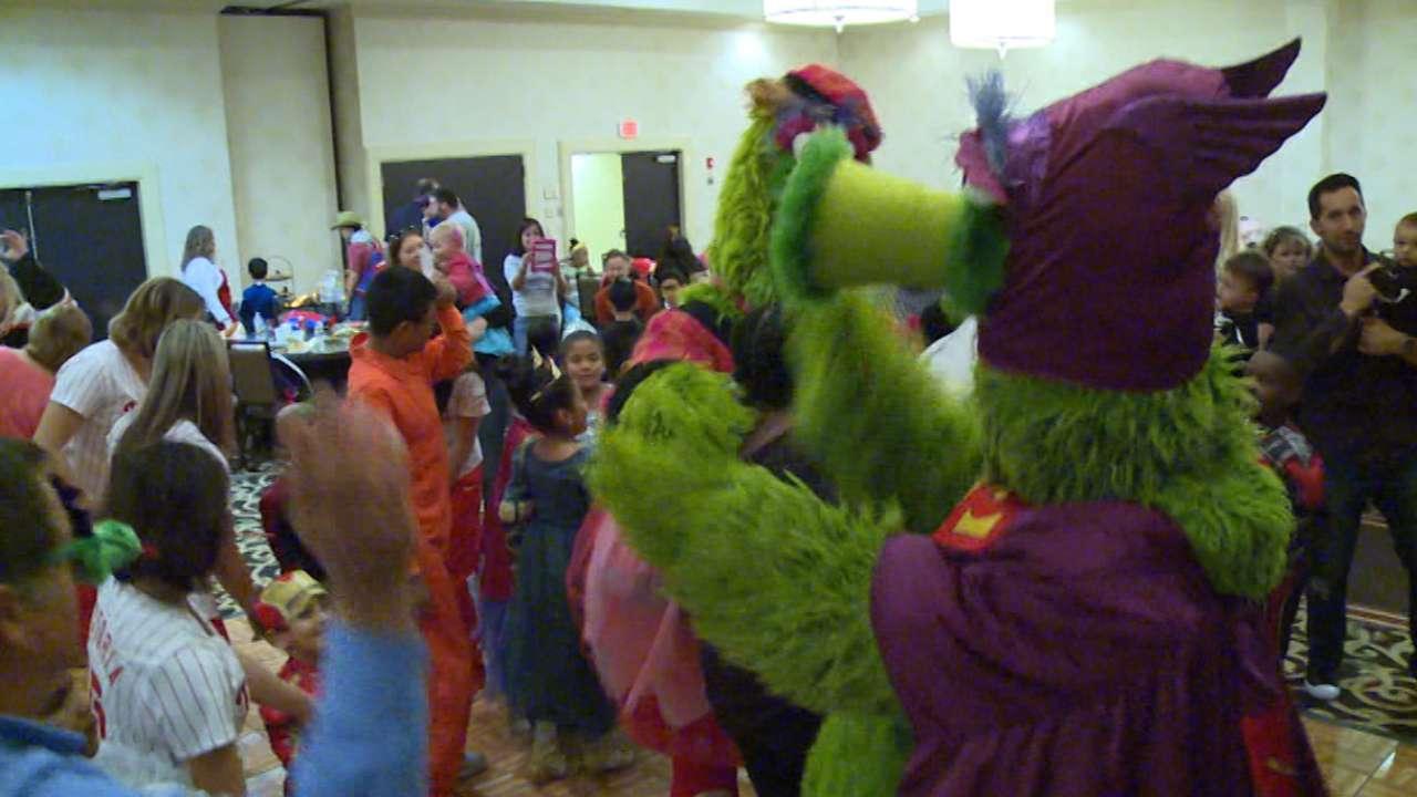 Phillies treat kids at CHOP to Halloween Bash