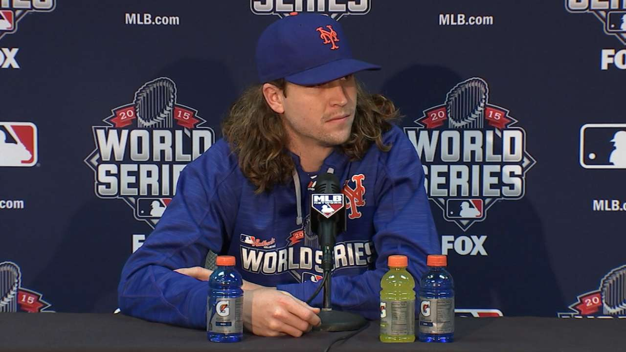 deGrom on preparing for Game 2