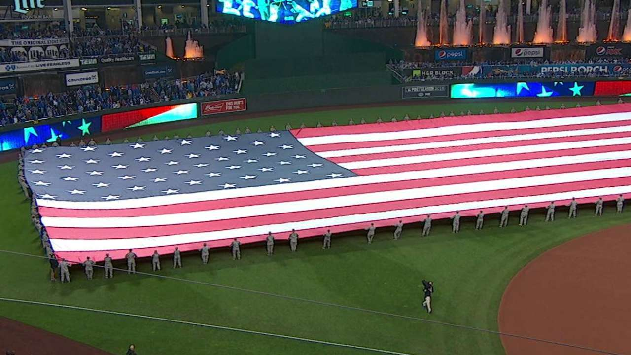 Andy Grammer performs anthem