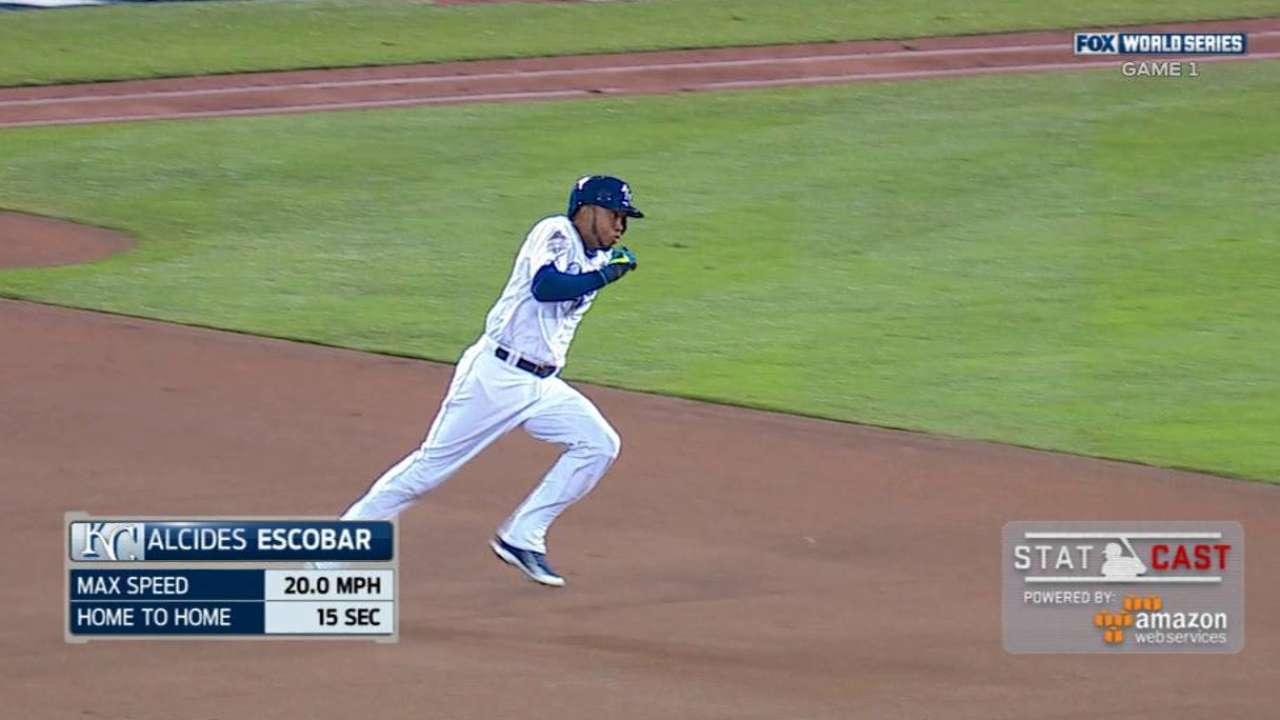 Statcast: Escobar's solo homer