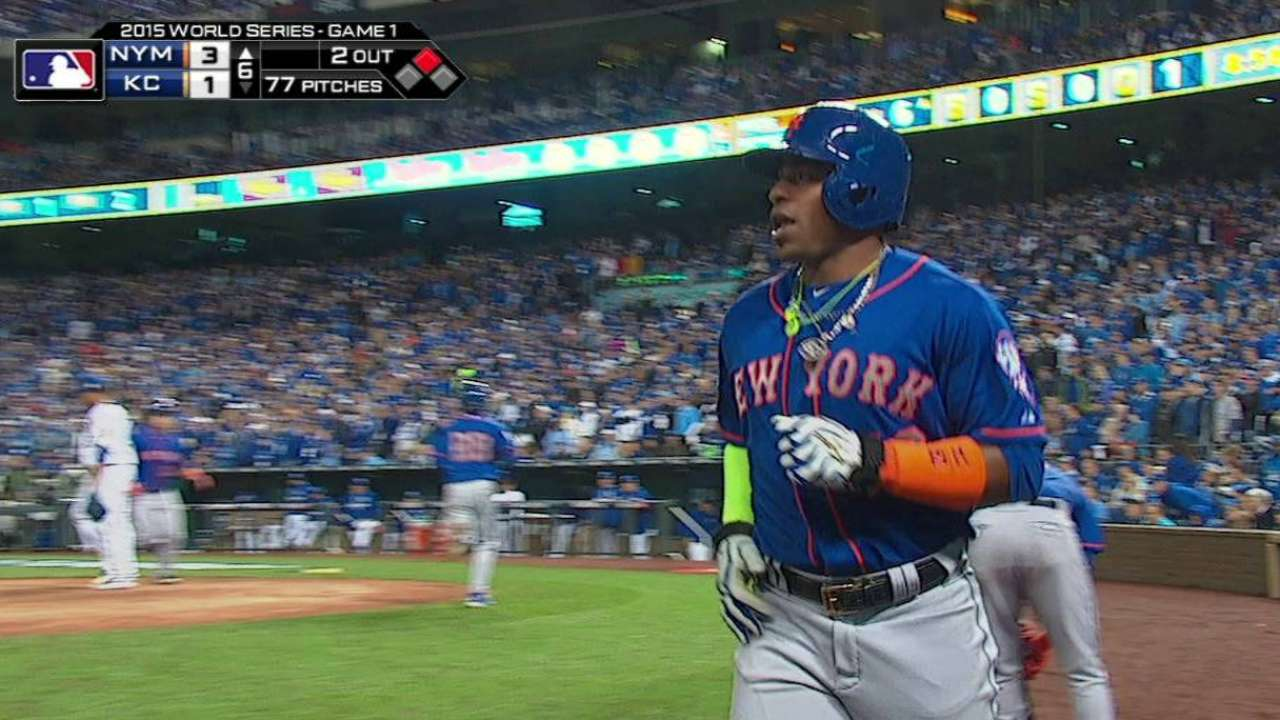 Conforto in LF for Mets; Morales out for KC