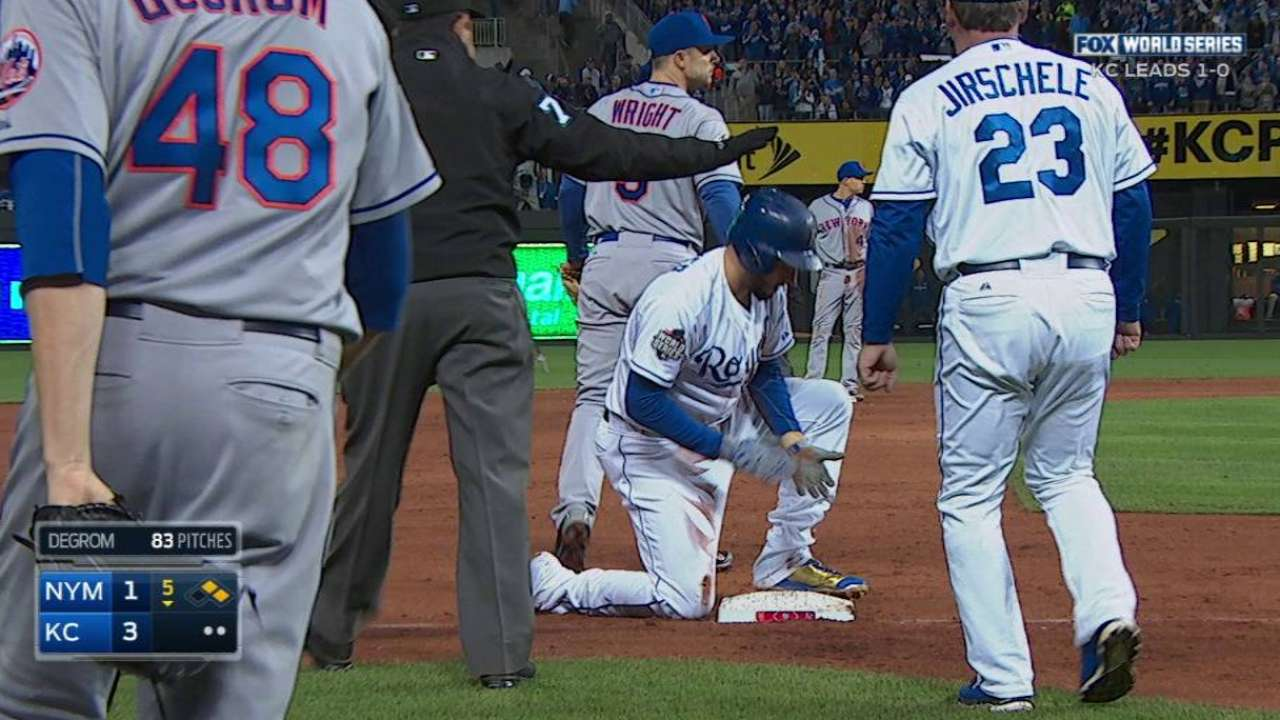 Hosmer goes first to third