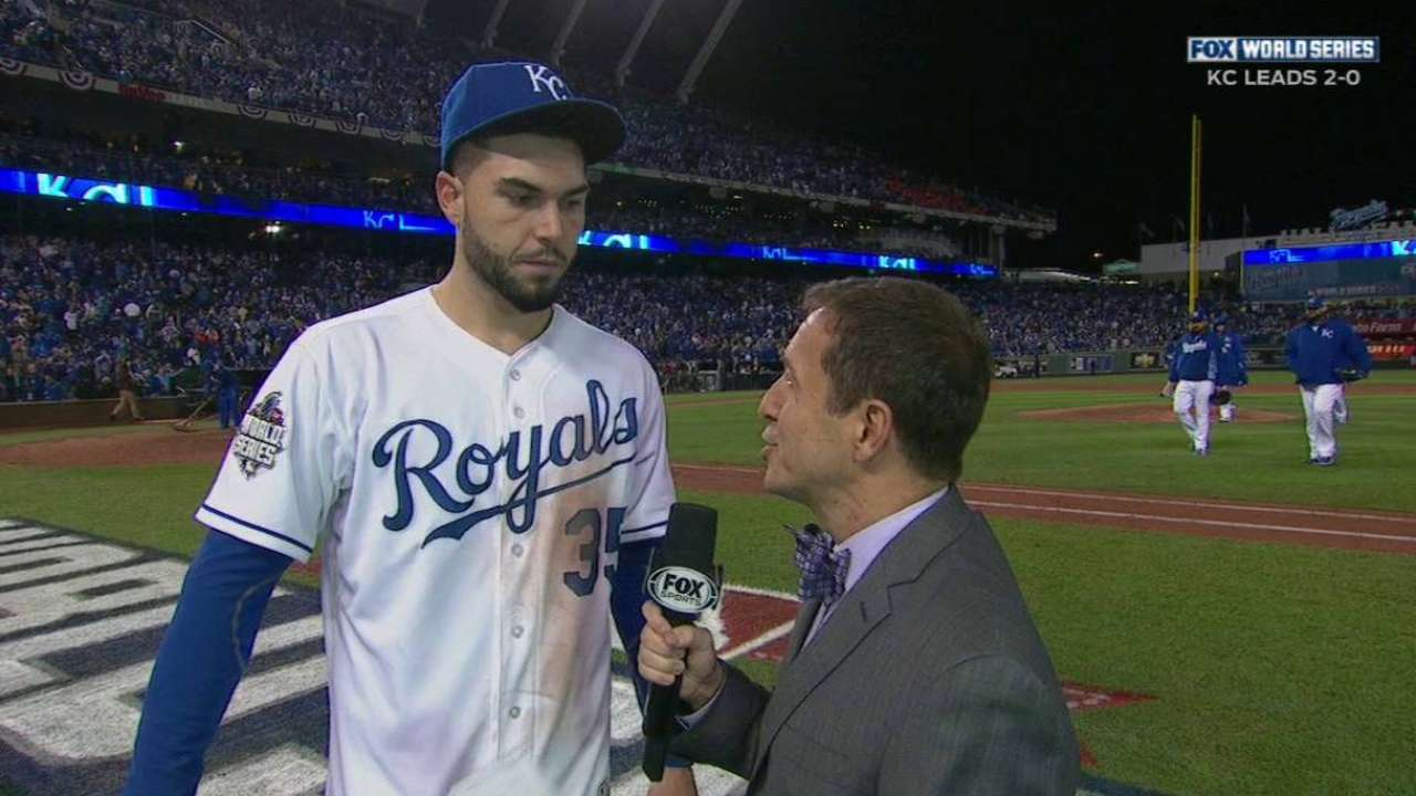 Hosmer on two RBIs, Game 2 win