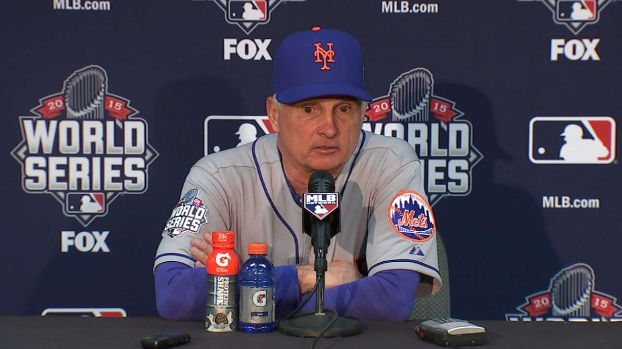 Collins on Mets' Game 2 loss