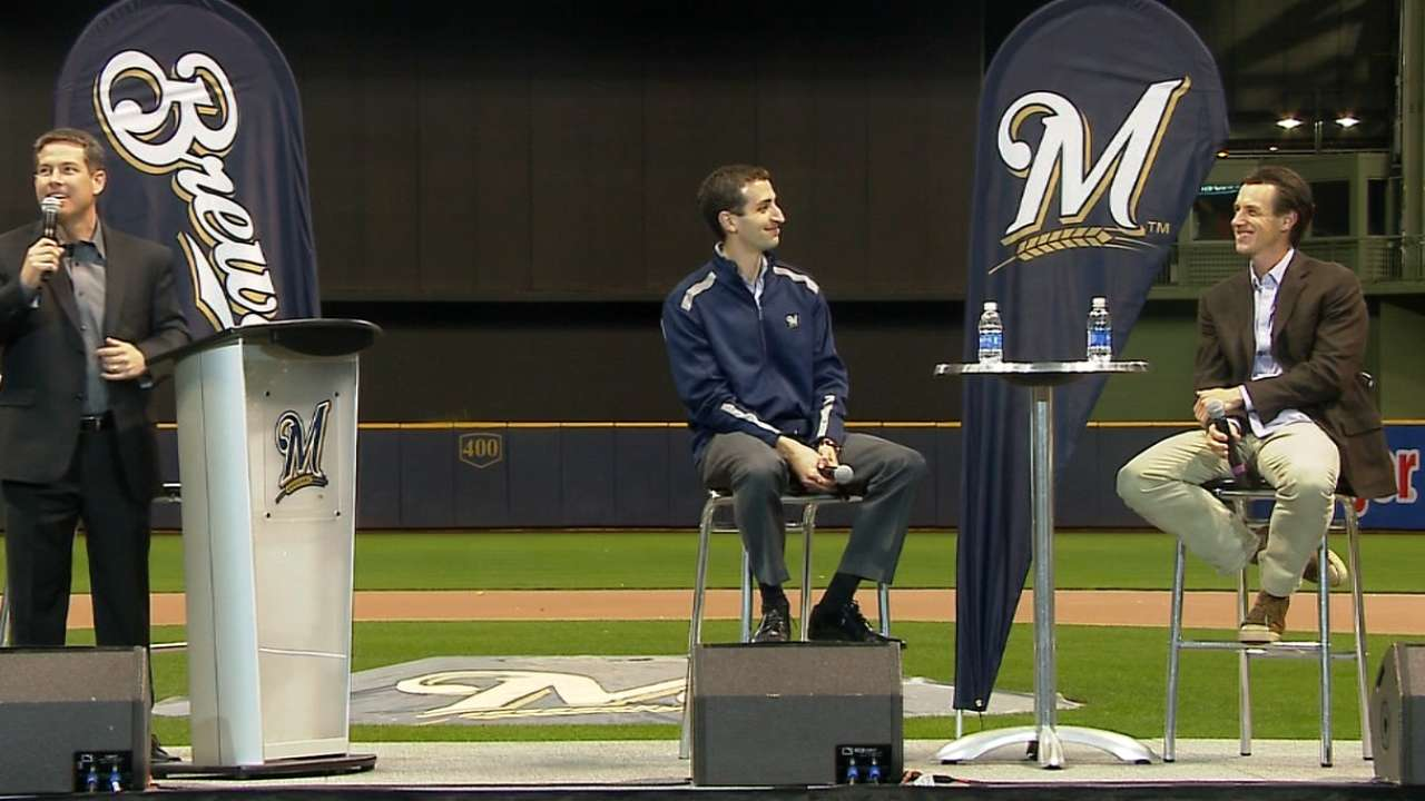 Brewers talk 2016 plan at town hall meeting