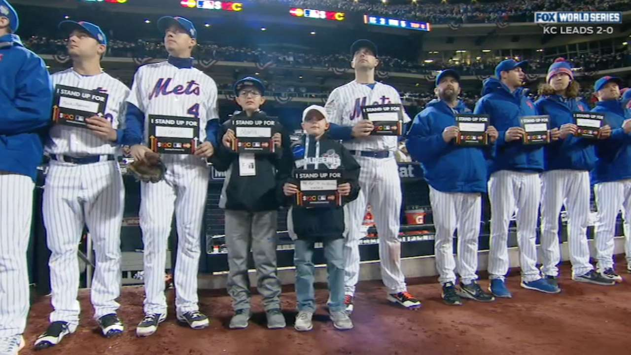 MLB, SU2C bring pediatric cancer to spotlight