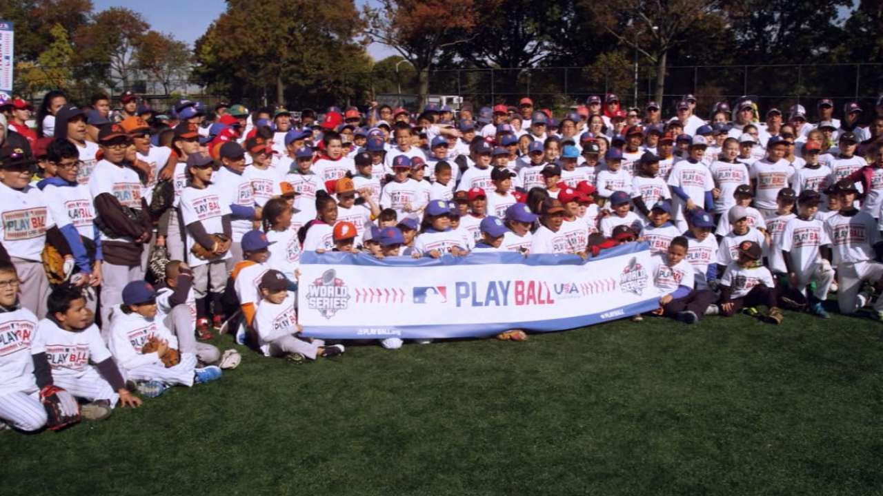 MLB's Play Ball event is big hit with children