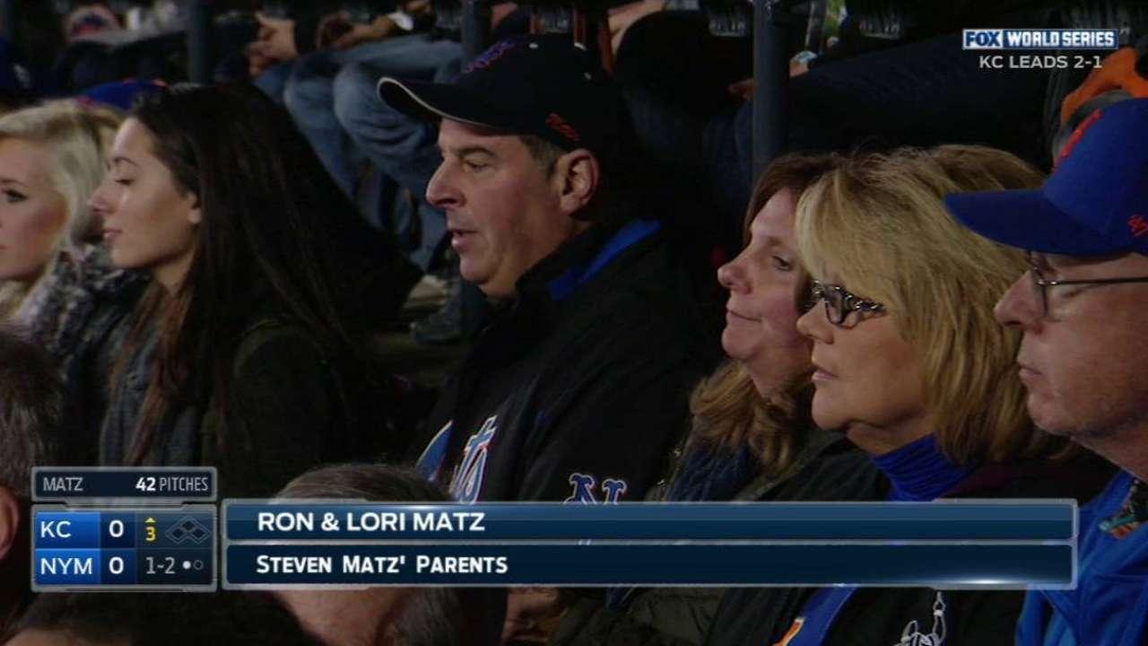 Matz's parents cheer his K