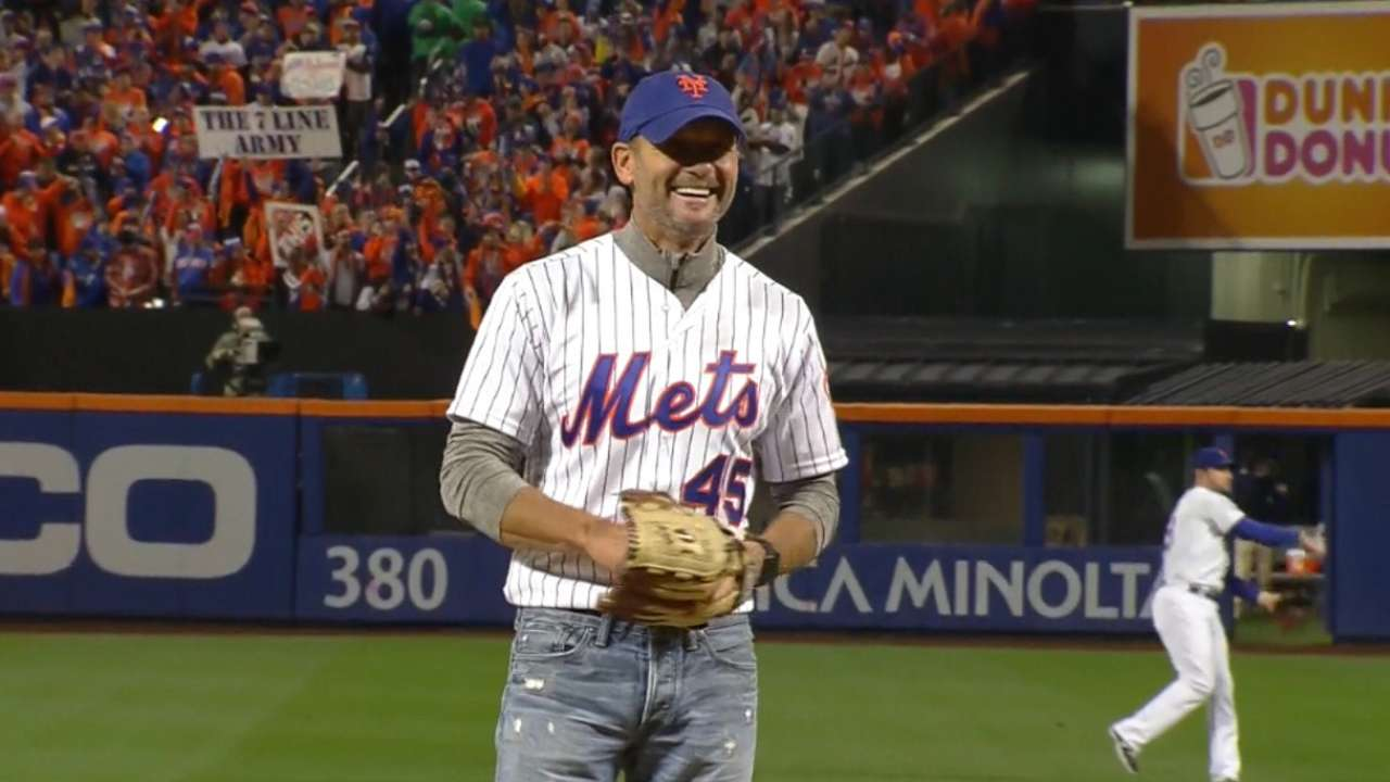 McGraw throws Game 4 ceremonial first pitch