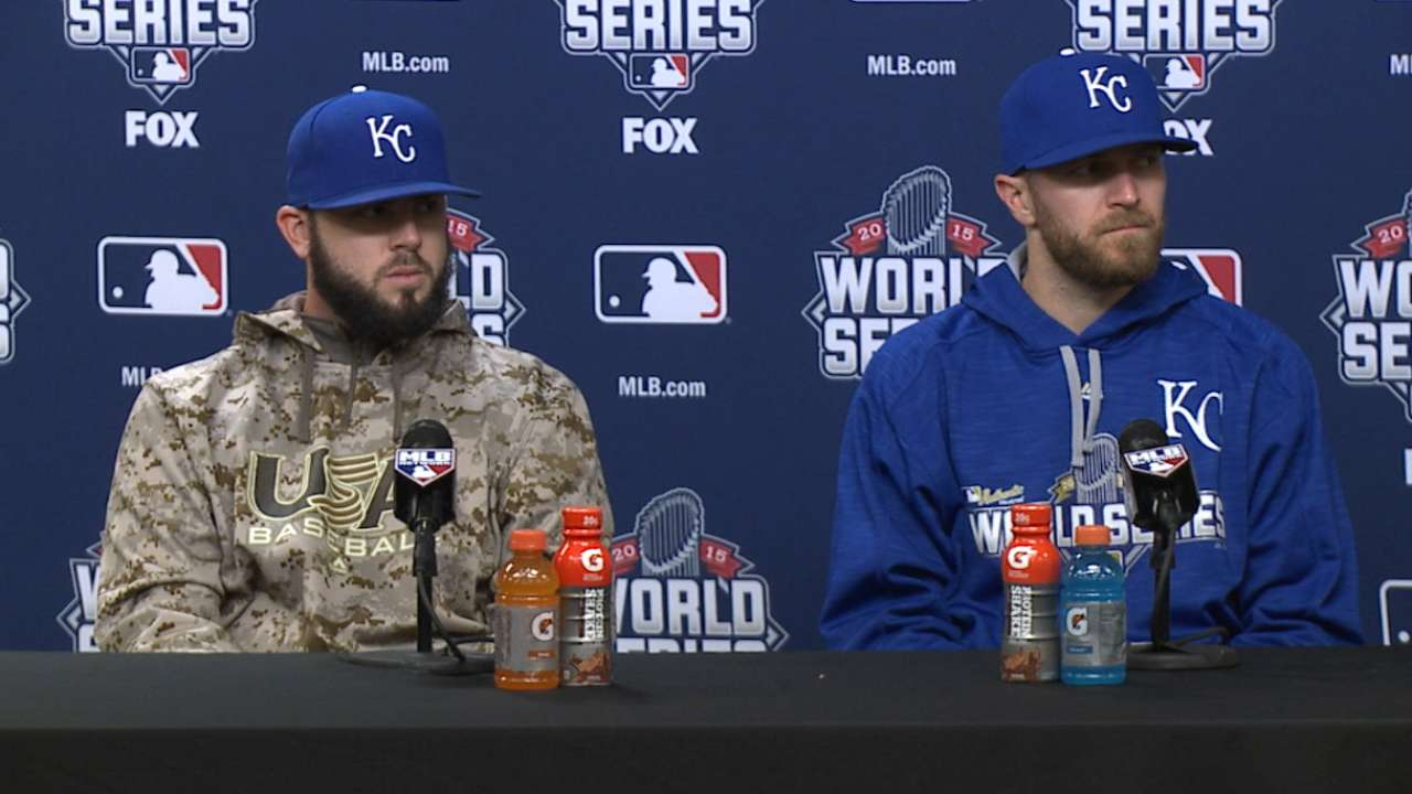 Oct. 31 Mike Moustakas, Wade Davis postgame interview