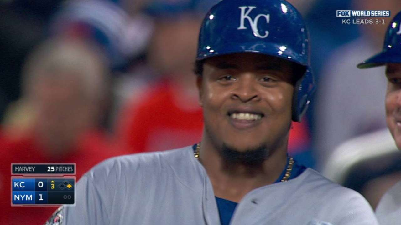 Volquez singles in the 3rd