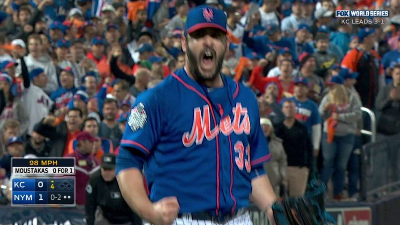 Harvey strikes out the side