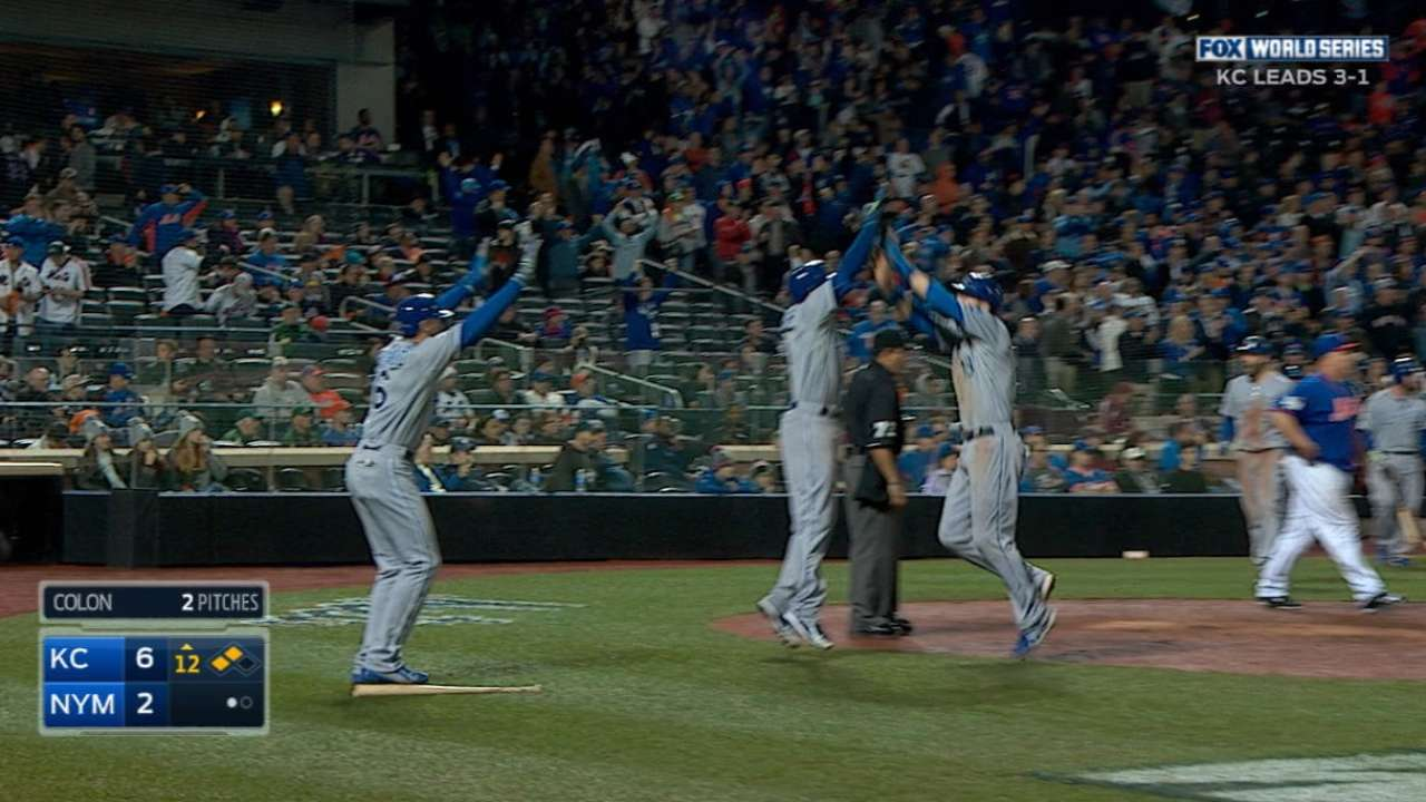 Royals score five in the 12th