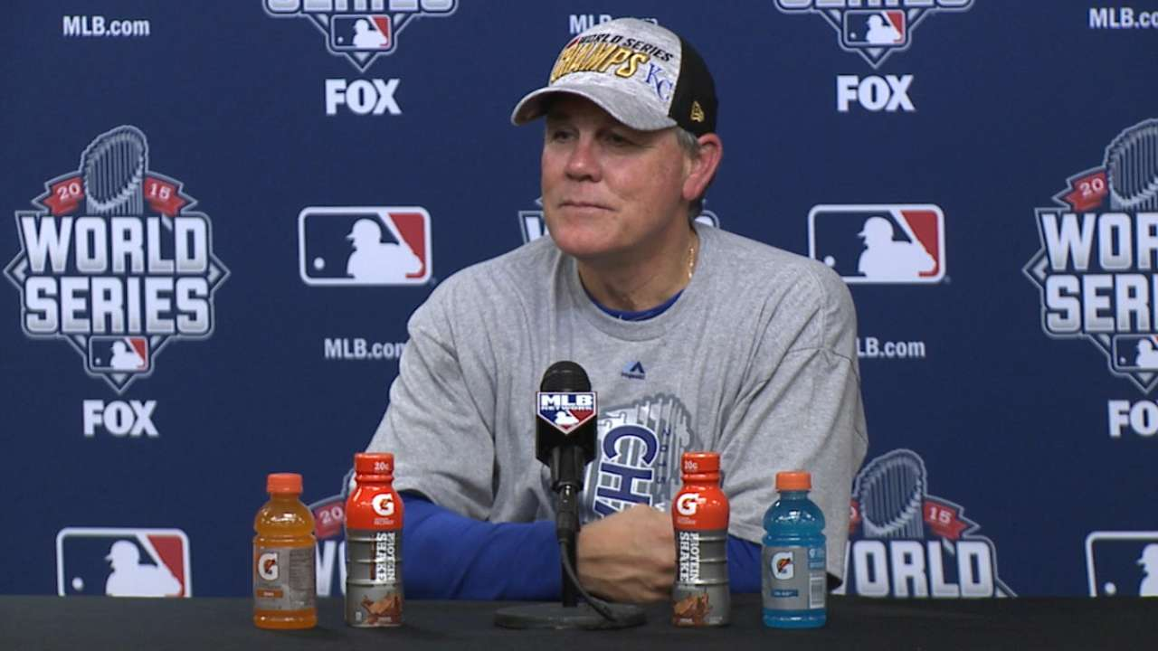 Yost on Royals' World Series win