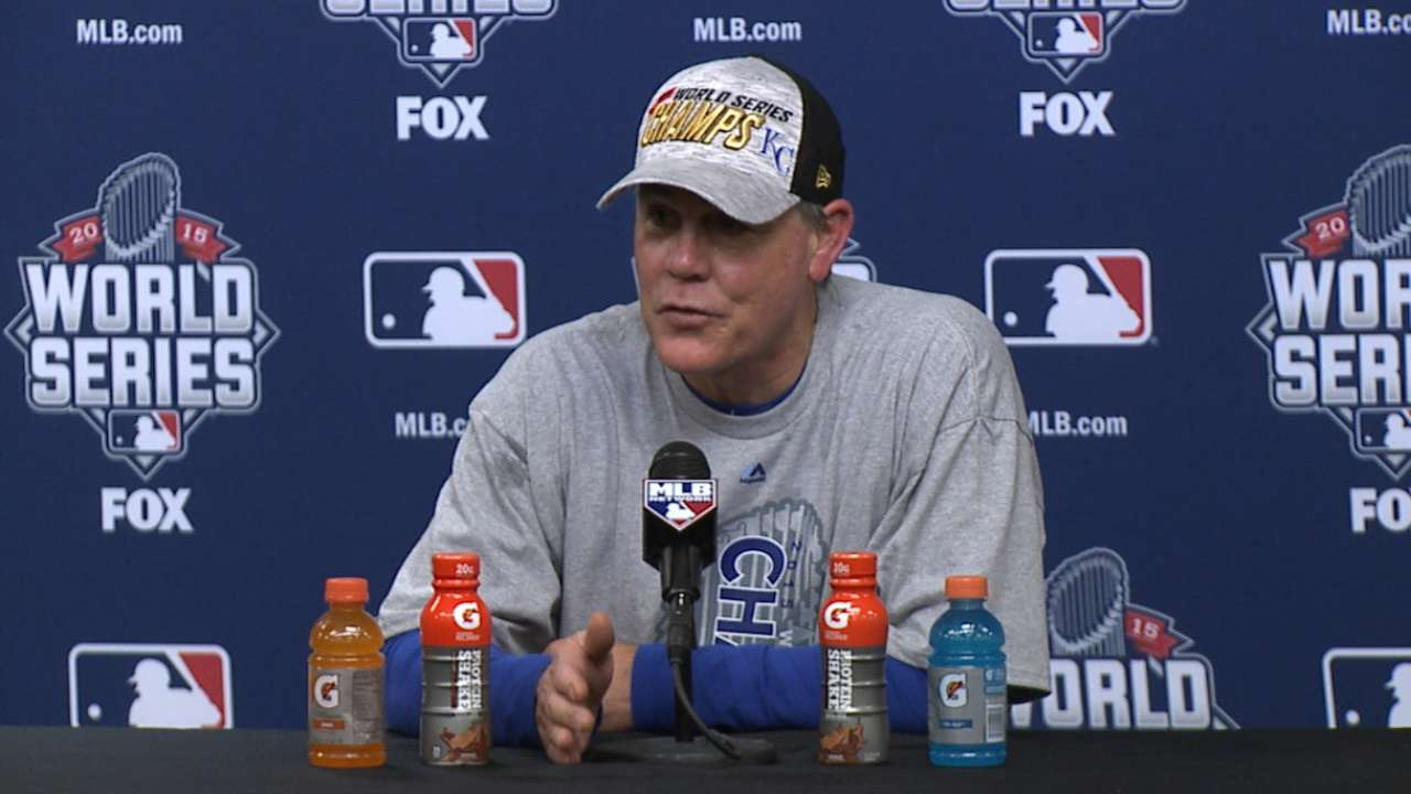 Yost on bringing WS title to KC