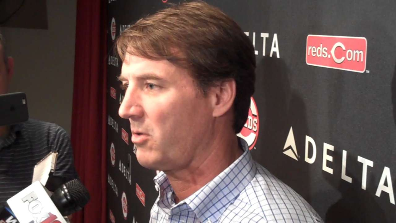 Williams on promotion to Reds GM