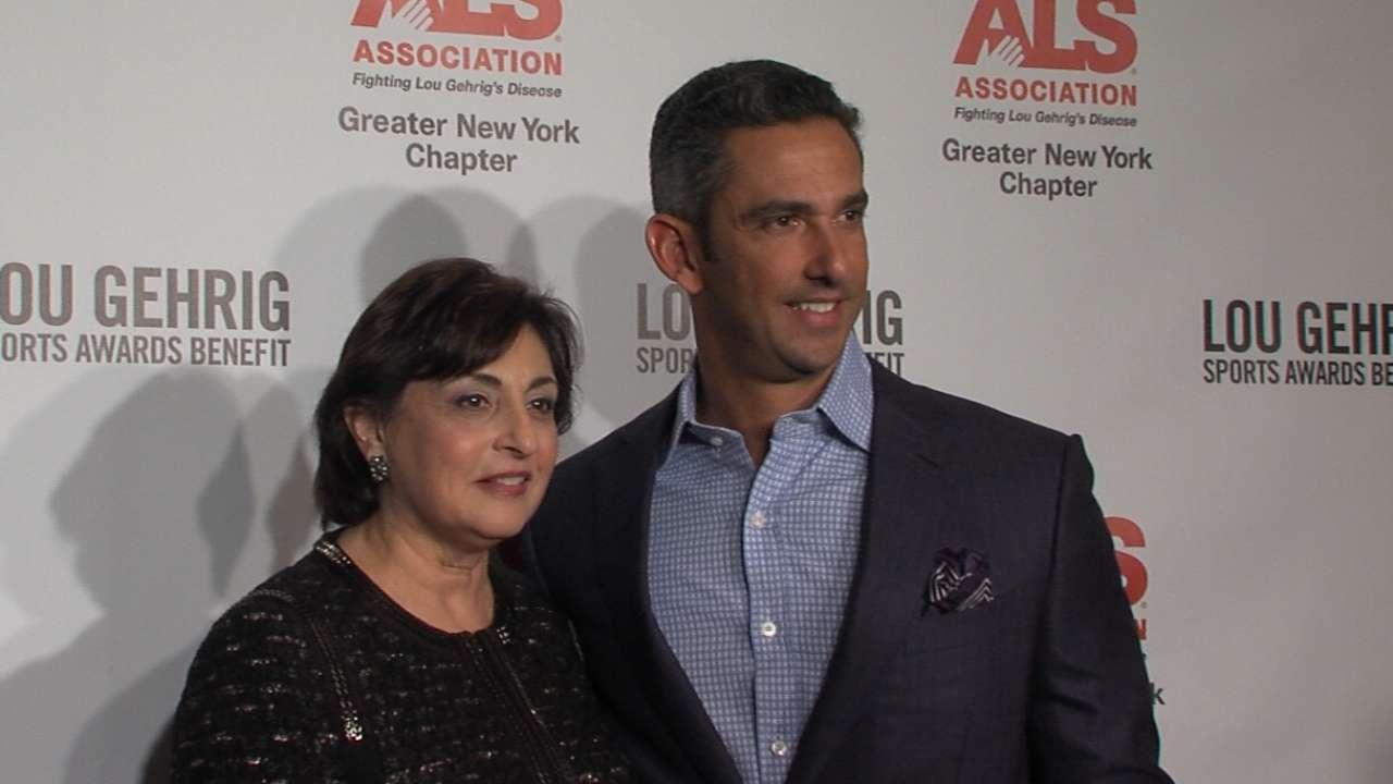 Yankees trio honored at Gehrig benefit dinner