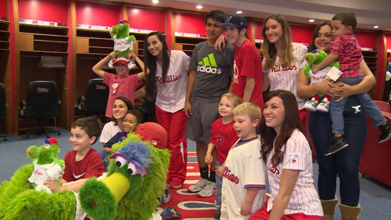 Phillies host clubhouse sleepover for kids