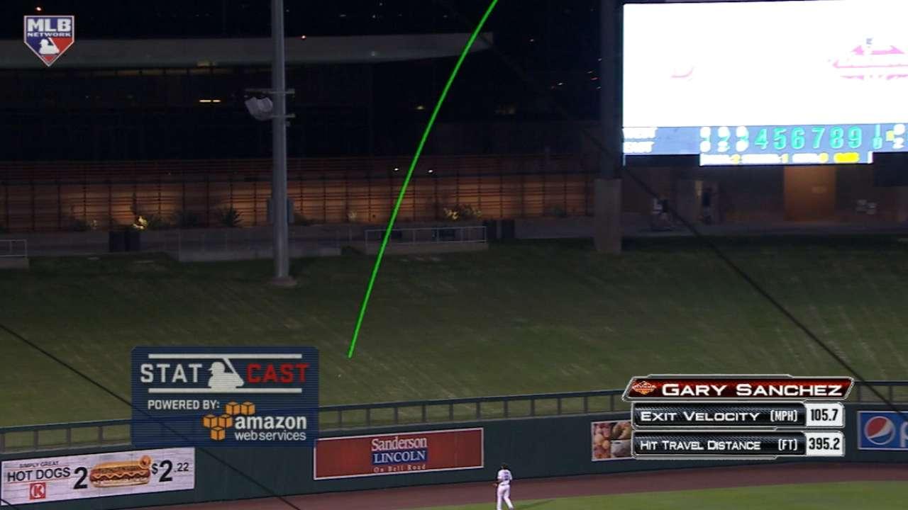 Statcast: Sanchez's two-run shot