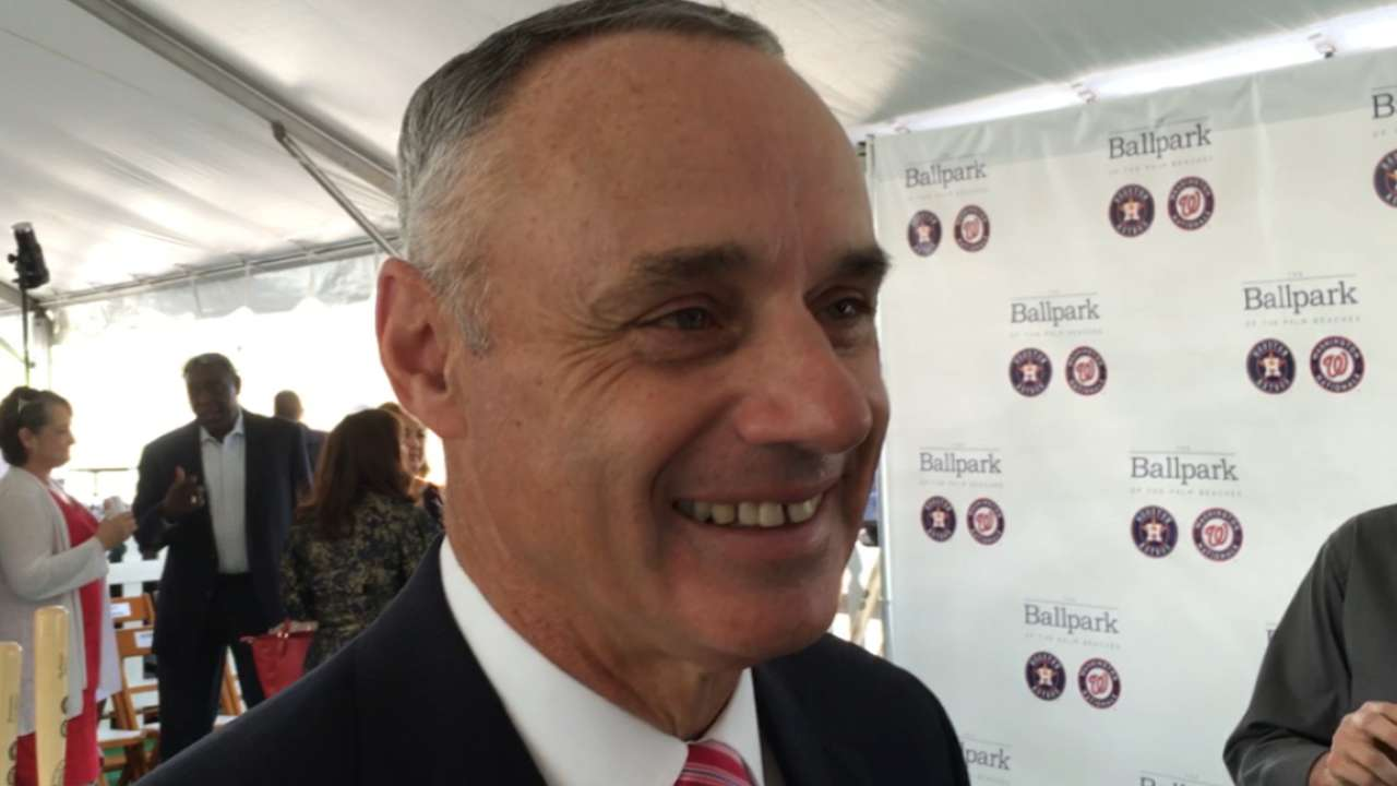 Manfred on new spring facility