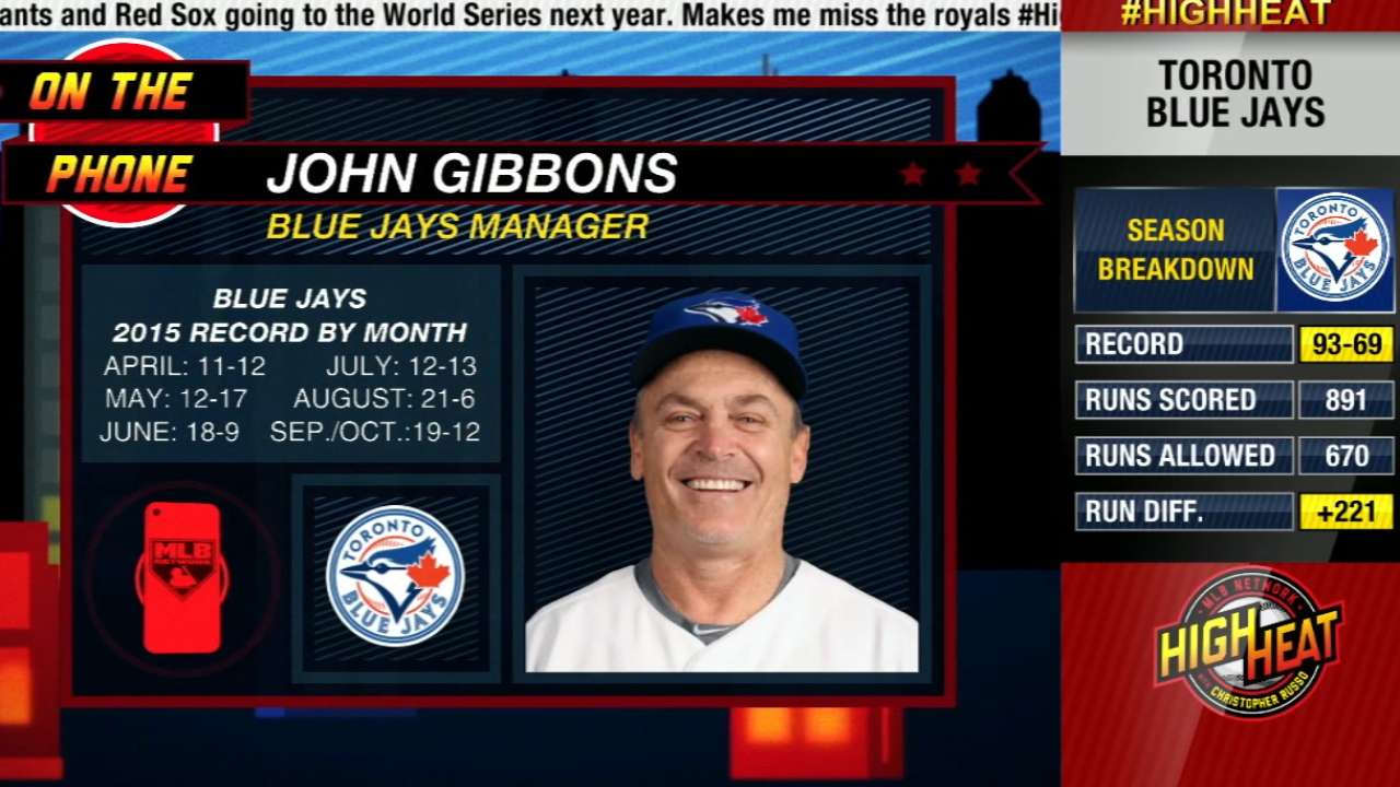 Sting of Blue Jays' loss fading for Gibbons