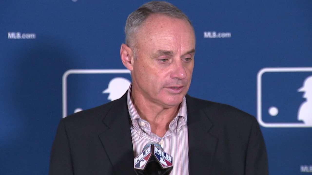 Manfred: MLB proactive against violence