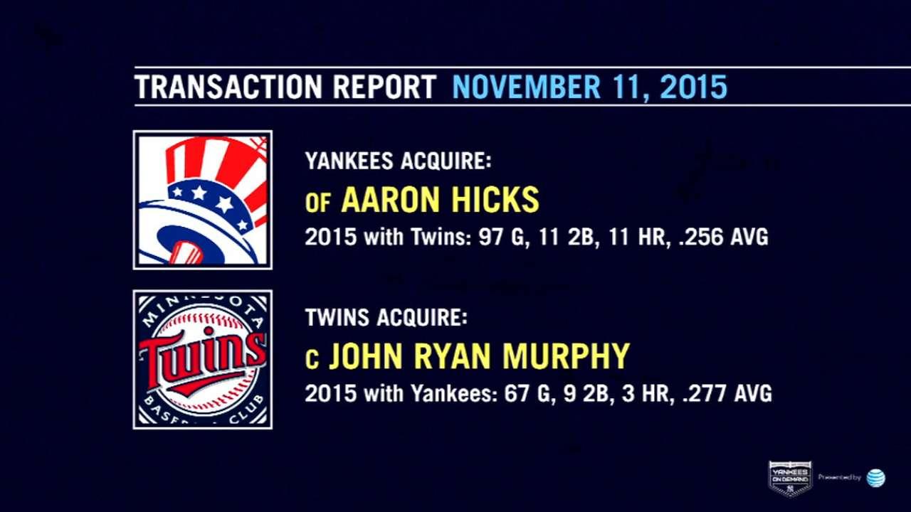 Yankees acquire Herrera, Hicks