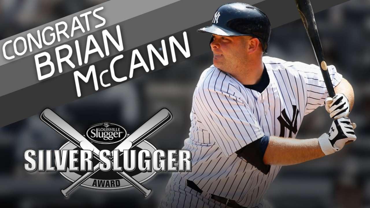 McCann earns sixth Silver Slugger, first in NY