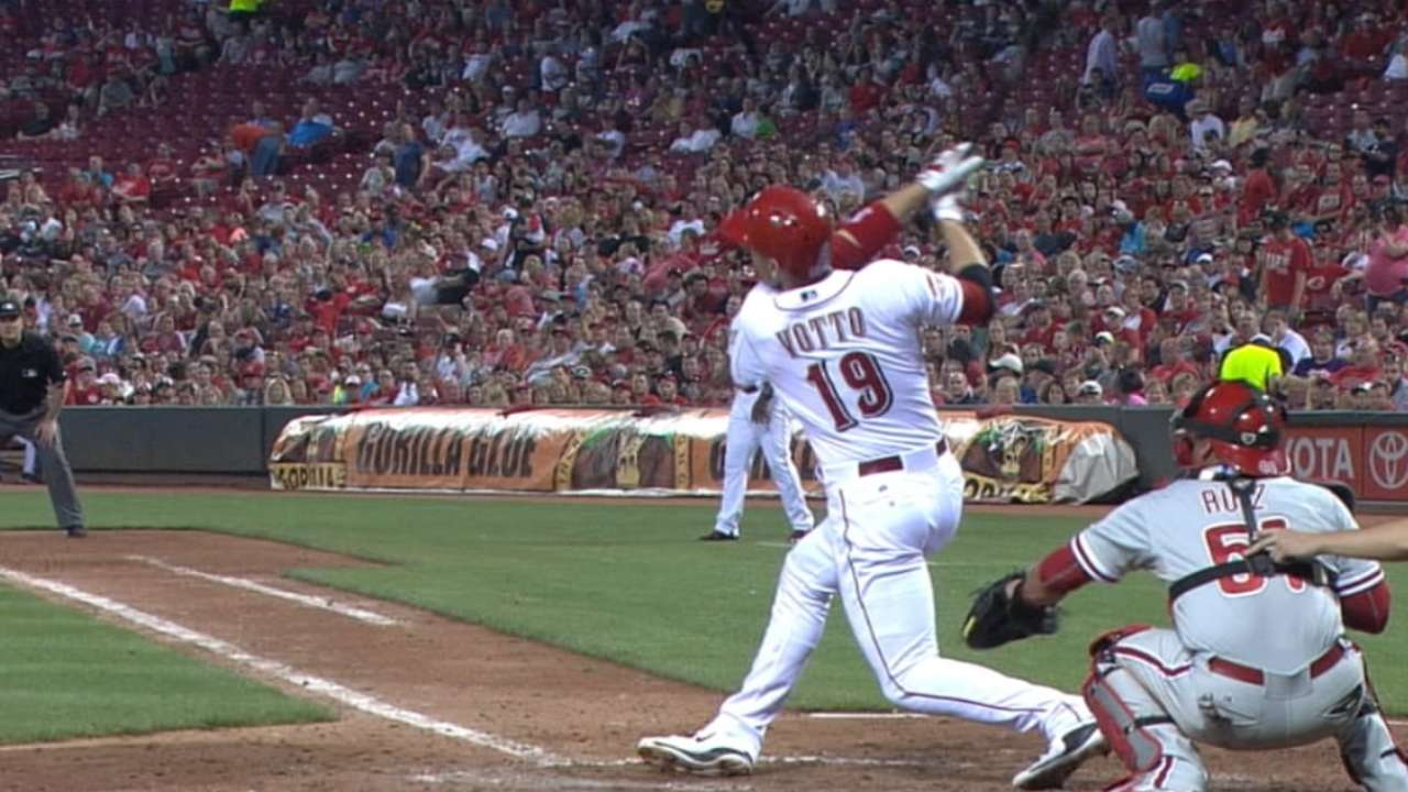 Votto places third for NL MVP