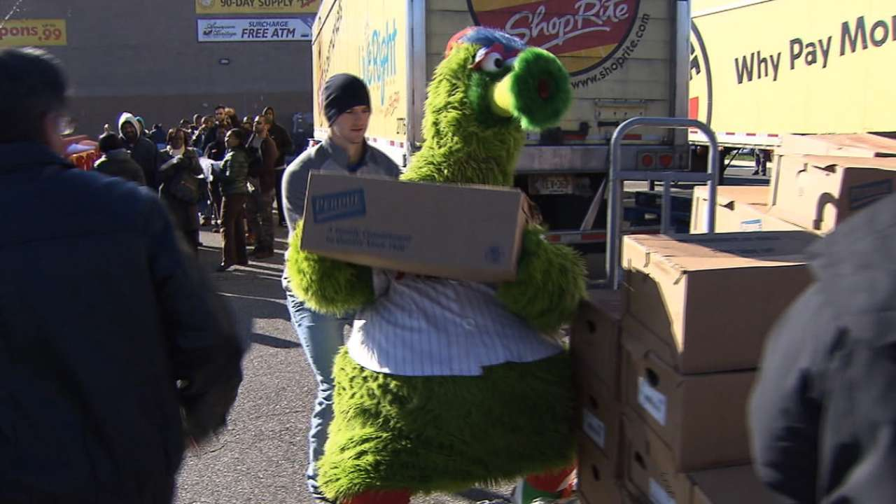Phils recognize importance of giving all year