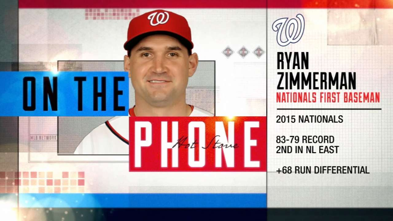 Zimmerman: No problem in Nats' clubhouse