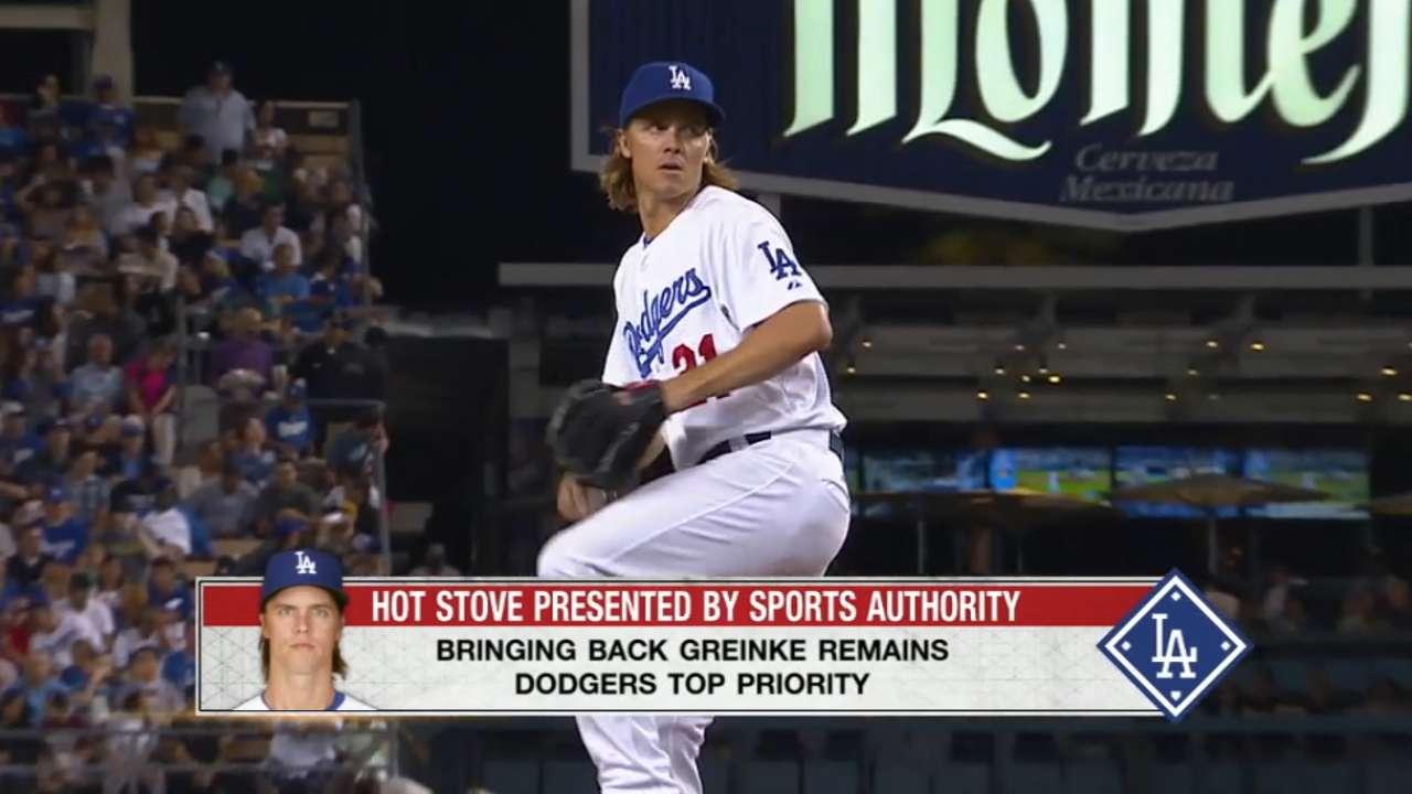 Dodgers want Greinke back