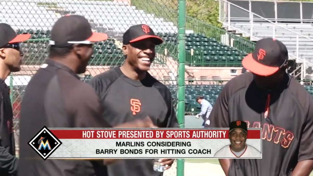 Source: Marlins considering Bonds as hitting coach