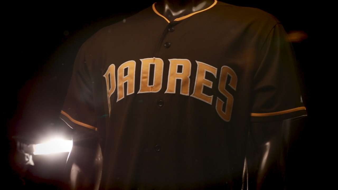 Padres unveil brown jersey