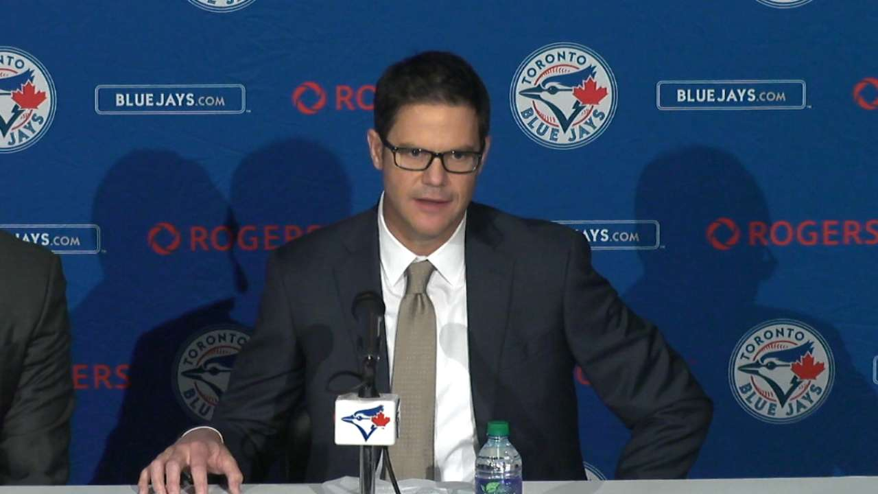 Blue Jays introduce Atkins as general manager
