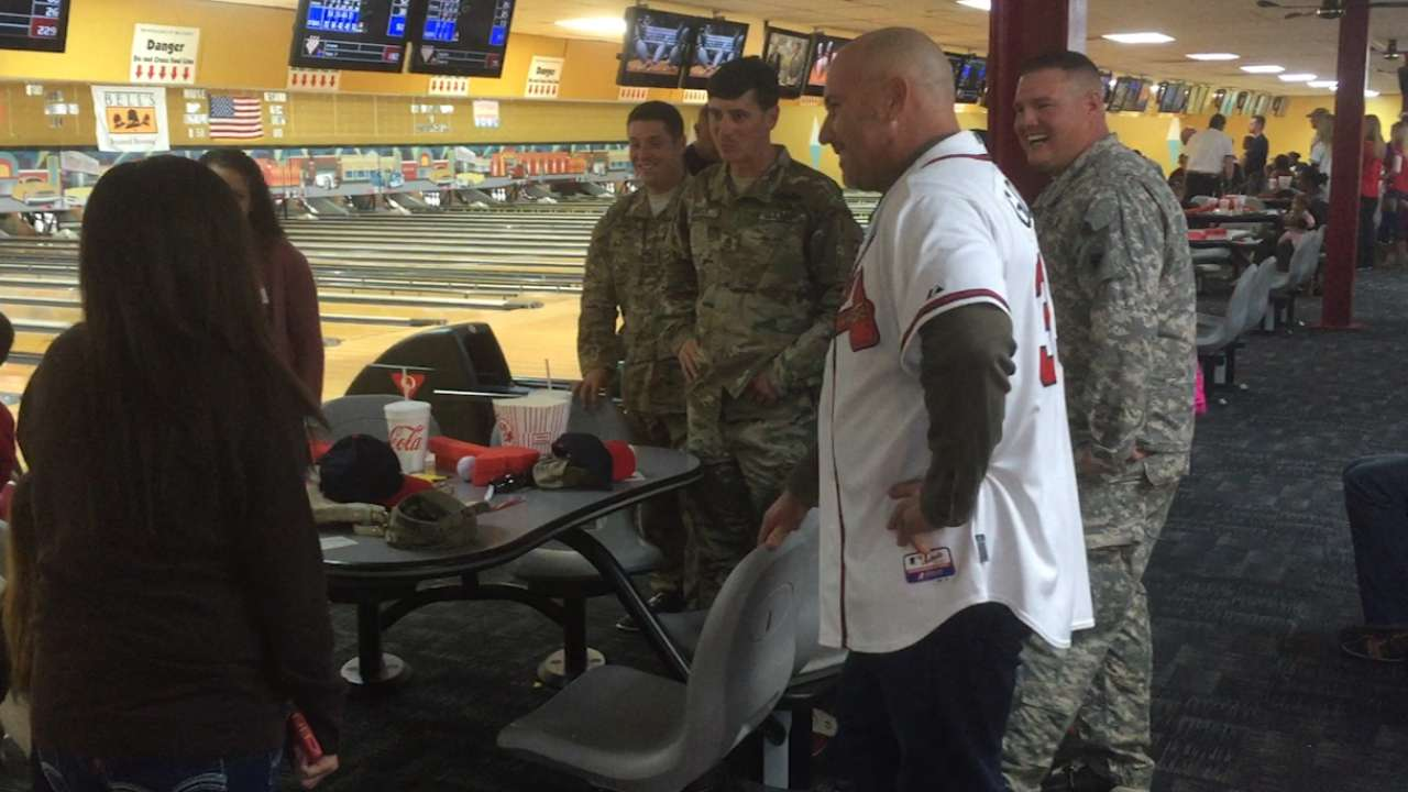 Fredi, coaches host bowling outing for military families